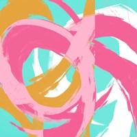 Pink Circular Strokes II Fine Art Print