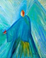 Benevolent Angel with Cardinal Fine Art Print