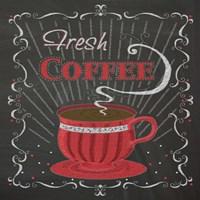 Coffee Chalk Square I Framed Print