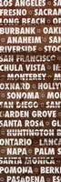 California Wood Type Fine Art Print