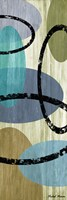 Elastic Blue I Framed Print