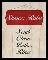 Bath Rules II Framed Print