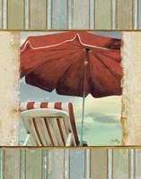 Chaise de Plage I Framed Print