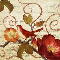 Avian on Red I Fine Art Print