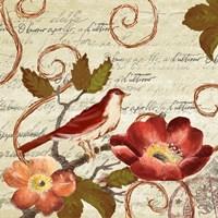Avian on Red II Fine Art Print