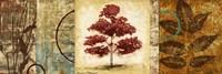 Red Tree Panel II Framed Print