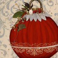 Red Ornament II Framed Print