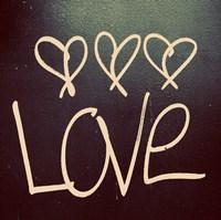 Triple Love and Hope I Framed Print
