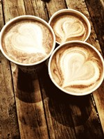 Love in a Latte Fine Art Print