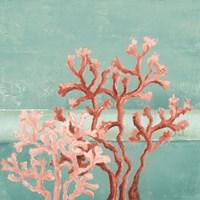 Teal Coral Reef II Fine Art Print