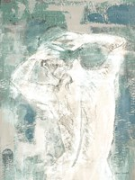 Figure on Abstract I Framed Print