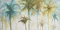 Watercolor Palms Framed Print