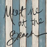 Beach Words II Framed Print