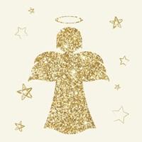 Golden Angels I Framed Print