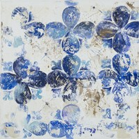 Blue Quatrefoil III Framed Print