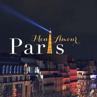 Mon Amour Paris Square Fine Art Print