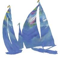 Set Sail on White I Fine Art Print