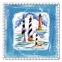 Beach-Front-Lighthouses Fine Art Print