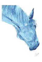 Blue Lacey Thick Fine Art Print