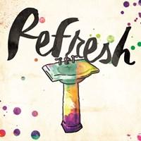 Refresh Colorful Sink Fine Art Print