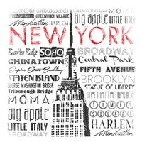 New York Words Mate Fine Art Print