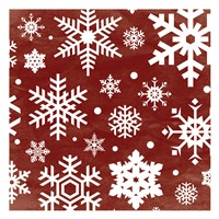 Red Snow Flakes Fine Art Print