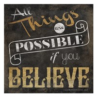 All Things are Possible Fine Art Print