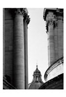 Vatican Dome and Column Fine Art Print