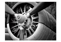 Plane Engine 2 BW Fine Art Print