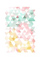 Pastel Triangles Mate Fine Art Print