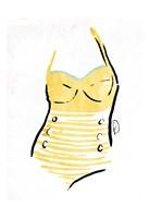 Vintage Swimsuit Pastel 1 Fine Art Print