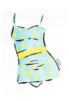 Vintage Swimsuit Pastel 2 Fine Art Print