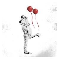 True Love Red Pop Mate Fine Art Print