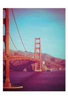 Retro Golden Gate Fine Art Print