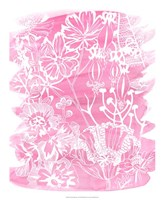 Fuchsia Bouquet I Framed Print