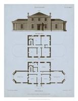 Chambray House & Plan I Fine Art Print