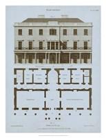Chambray House & Plan II Fine Art Print