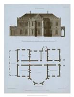 Chambray House & Plan III Fine Art Print