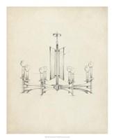 Mid Century Chandelier IV Fine Art Print