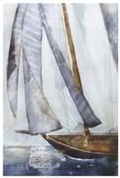 Sailboat Blues I Fine Art Print