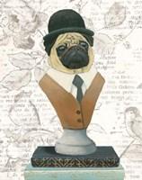 Canine Couture Newsprint III Fine Art Print