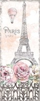 Paris Roses Panel VIII Fine Art Print