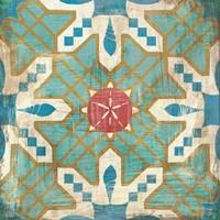 Bohemian Sea Tiles III Fine Art Print