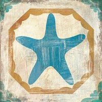 Bohemian Sea Tiles IX Fine Art Print