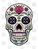 Sugar Skull II on Gray Fine Art Print