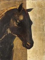Trojan Horse I Gold Framed Print