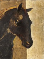 Trojan Horse I Gold Fine Art Print