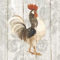 Farm Friend I on Barn Board Framed Print