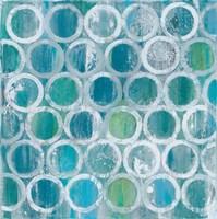 Stack of Tubes Blue Fine Art Print