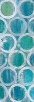 Stack of Tubes Blue II Framed Print
